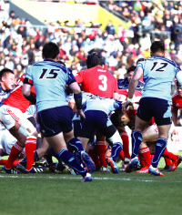 Kobelco Steelers Dominate First-Ever Official Rugby Match Attended by Emperor