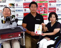Raised Funds Presented to the Japan Spinal Cord Foundation