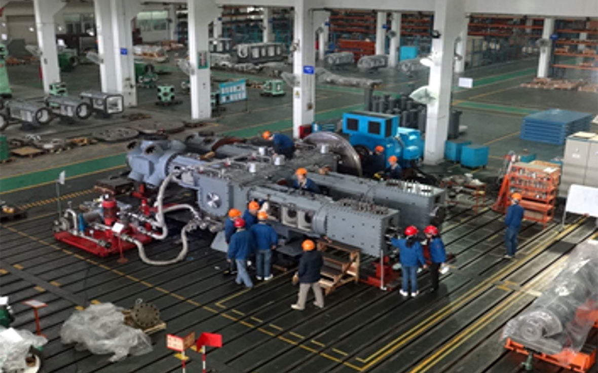 Inside view of Wuxi Compressor's plant