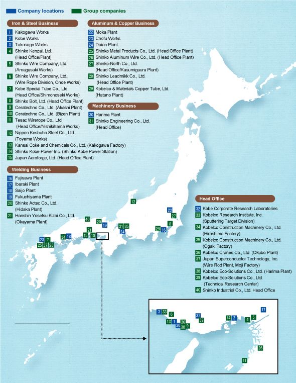 Environmental Conservation at Locations in Japan KOBE STEEL LTD