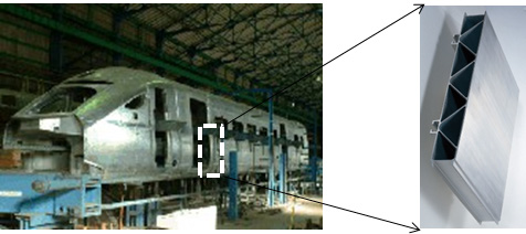 Body structure of rolling stock.