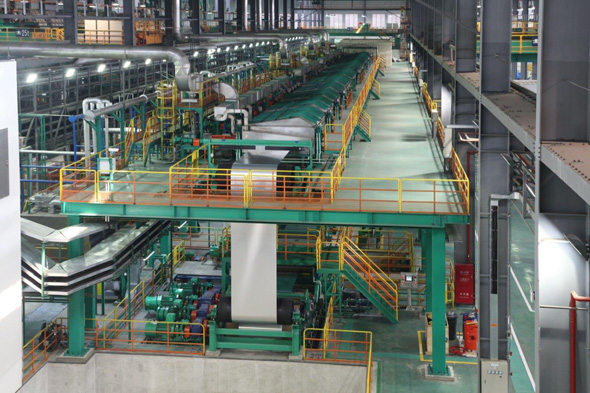 Surface treatment line at Kobelco Automotive Aluminum Rolled Products (China)